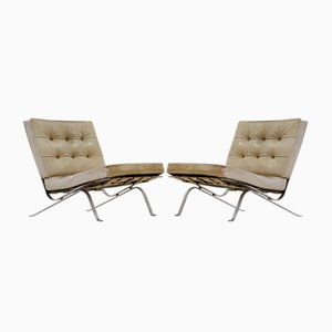 RH-301 Leather Lounge Chairs by Robert Haussmann for de Sede, 1960s, Set of 2