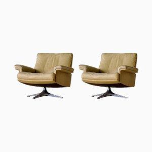 Vintage Modell DS 35 Leder Sessel von de Sede, 2er Set