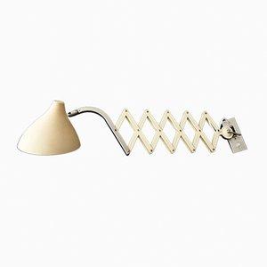 Mid-Century Beige Scissor Lamp