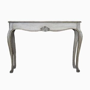 English 19th-Century Console Table in Bleached Oak