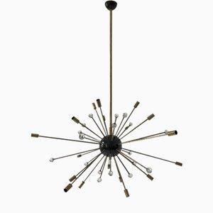Mid-Century 32-Leuchten Sputnik Deckenlampe von Stilnovo, 1950er