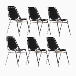 Vintage Les Arcs Chairs by Charlotte Perriand, Set of 6