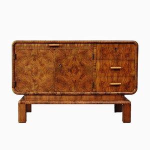 Art Deco Walnuss Furnier Sideboard, 1930er