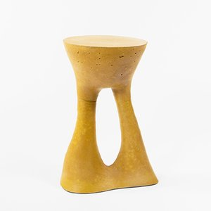 Tall Mustard Kreten Side Table by Isaac Friedman-Heiman for Souda