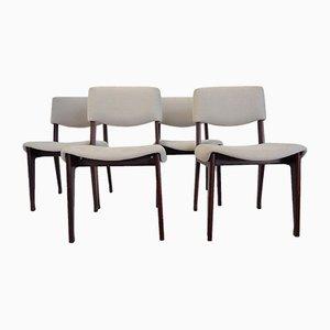 Italienische Mid-Century Stühle aus Holz von Mim, 4er Set