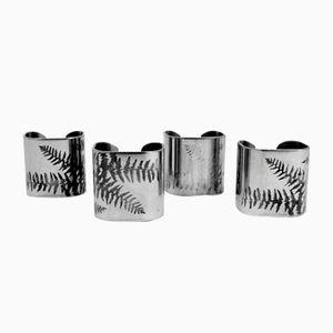 Serviettenringe mit Schablonen Muster von Sambonet Italy, 1990er, 4er Set