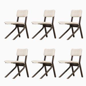 Stühle aus Wengéholz, 1970er, 6er Set