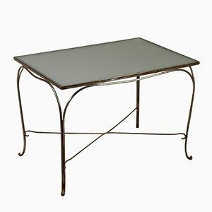 Italian Wrought Iron & Glass Table, 1960s