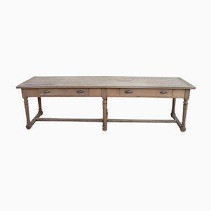 Antiker französischer Eichenholz Tisch