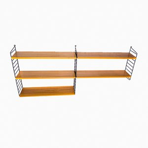 Teak Wall Shelf by Kajsa & Nils Nisse Strinning for String, 1960s