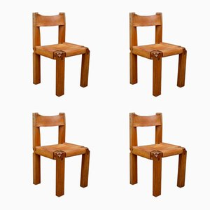 Vintage S11 Chairs by Pierre Chapo, Set of 4
