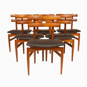 Mid-Century Model 30 Teak Chairs by Poul Hundevad for Hundevad Vamdrup, Set of 6