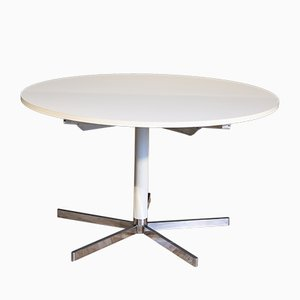 Large White Round Dining Table from Tecta, 1970s