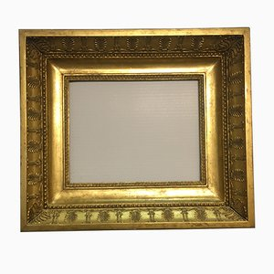 19th Century Italian Neoclassical Wood Frame with Gold Leaf Cover