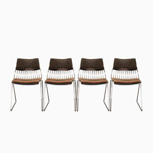Belgian Dining Chairs by Rudi Verelst for Novalux, 1970s, Set of 4