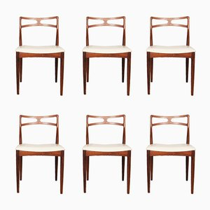 Rosewood Dining Chairs by Johannes Andersen for Christian Linneberg, 1960s, Set of 6