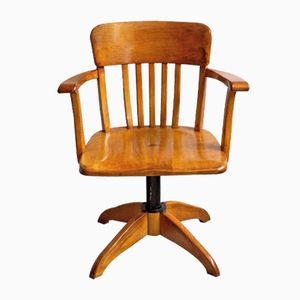 Height Adjustable Swivel Desk Chair, 1930s