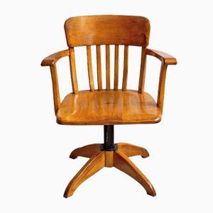 Sedia da scrivania girevole con altezza regolabile, anni '30