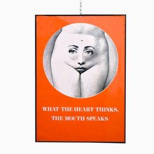 Poster vintage de Piero Fornasetti, años 50