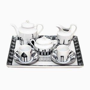 Tete-a-tete Ceramic Coffee Service by Barnaba Fornasetti for Richard Ginori, 1980s