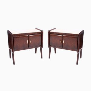 Mid-Century Italian Bedside Cabinets, Set of 2