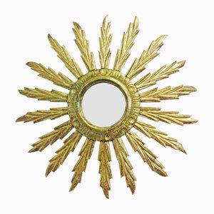 Specchio antico a forma di sole fatto a mano