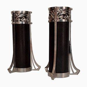 Vasi Art Nouveau in bronzo, anni '10, set di 2