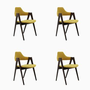 Oak Compass Chairs by Kai Kristiansen for SVA Møbler, 1960s, Set of 4