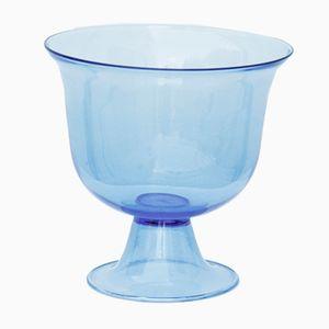 Scodella in vetro soffiato blu, anni '50