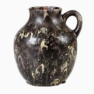 Vaso vintage in ceramica smaltata di Ruscha, anni '70