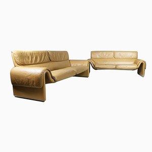 Schweizer Vintage Leder Sofas von de Sede, 2er Set