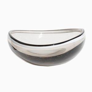 Italian Transparent Gray Glass Bowl from Saliviati, 1960s