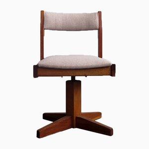 Vintage Swivel Kids Chair In Wood