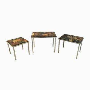 Stone & Resin Nesting Tables, 1960s