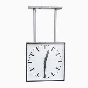 Relojes de estación modernistas de doble cara de Pragotron, años 50