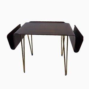Italian Plywood Curved Coffee Table & Magazine Rack from Carlo Ratti, 1952