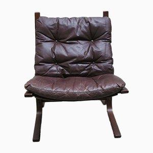 Siesta Leder Sessel von Ingmar Relling für Westnova, 1960er