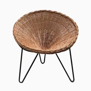 French Rattan Chair, 1950s