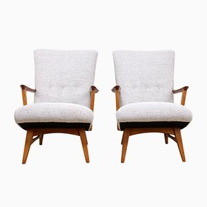 Teak and Oak Lounge Chairs, 1960s, Set of 2