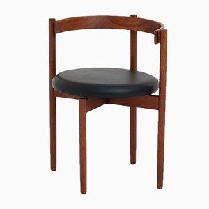 Danish Rosewood & Leather Chair by Hugo Frandsen for Børge M. Søndergaard, 1960s