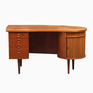 Model 54 Teak Executive Writing Desk by Kai Kristiansen for Feldballes Møbelfabrik, 1950s