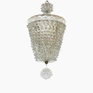 Art Deco Rostrato Murano Glass Ceiling Lamp by Ercole Barovier, 1930s