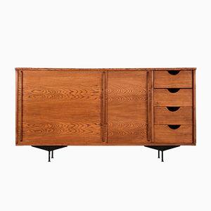 Französischer Vintage Eiche Furnier Sideboard