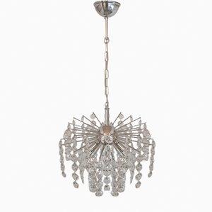 Lámpara de araña alemana de cristal, años 70