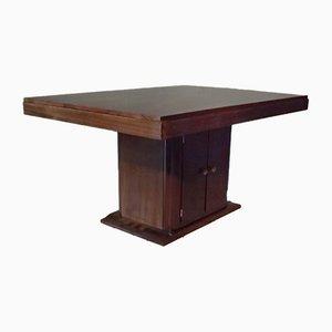 Table Art Déco en Acajou par Gaston Poisson, 1940s