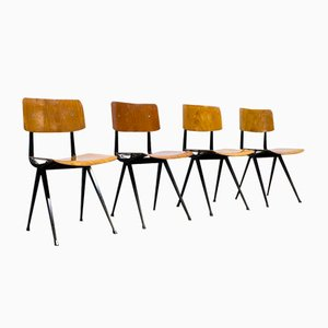 Vintage Result Industrial Chairs by Friso Kramer & Wim Rietveld for Ahrend DE Cirkel, Set of 2