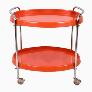 Vintage Orange Bar Trolley, 1950s