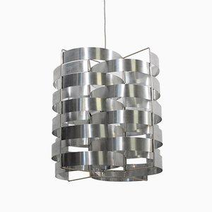 Lámpara colgante de aluminio de Max Sauze, años 70