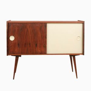 Walnut Record Player Cabinet, 1960s