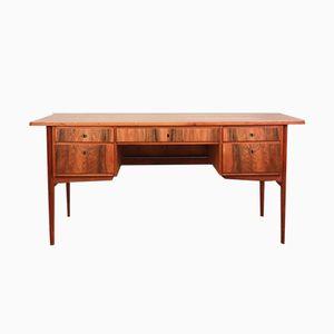 Großer vintage Nussholz Schreibtisch
